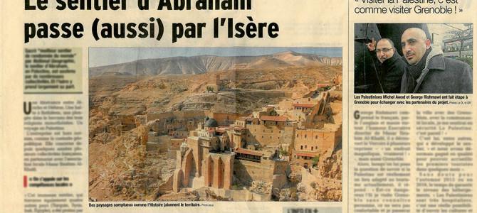 Article dauphiné libéré Sentier d'Abraham