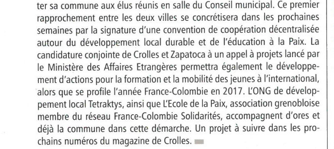 Article Magazine de Crolles